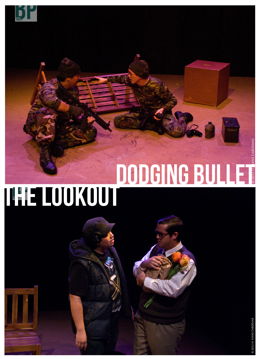 Dodging Bullets, by Skyler Garcia / The Lookout, by Jake Arky